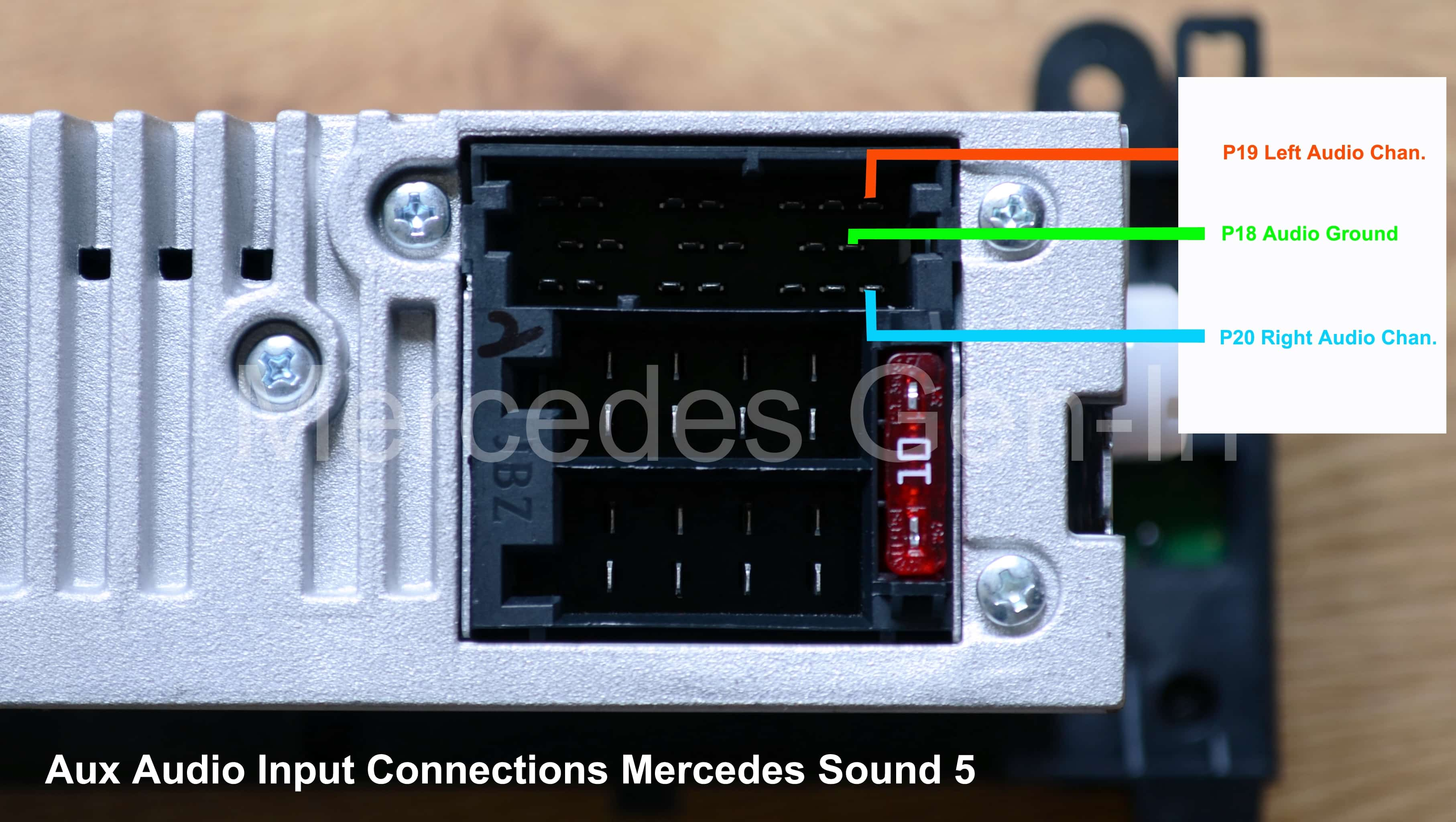 Mercedes Sound 5 Audio Connection Mercedes Gen In