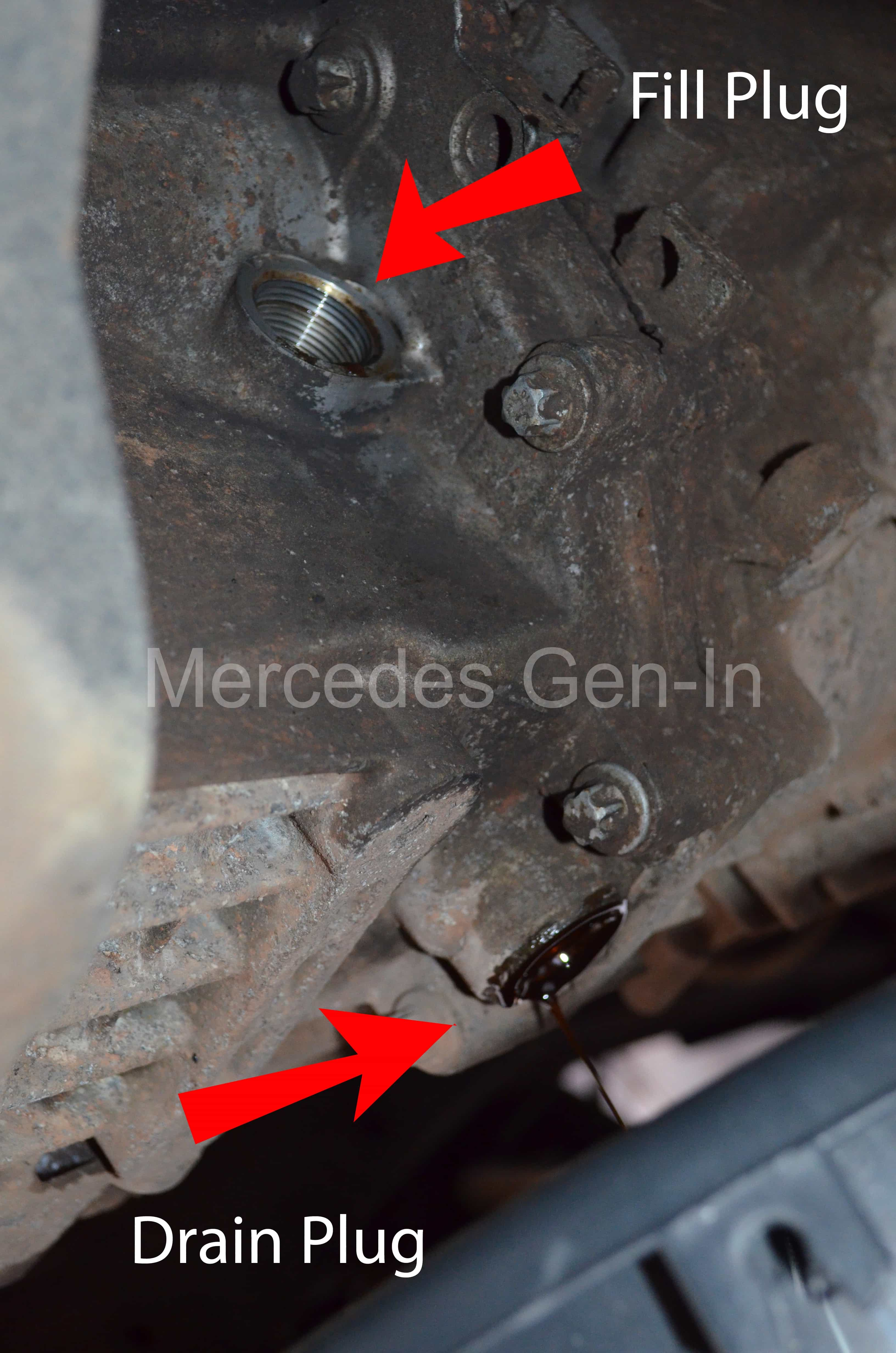 Mercedes Vito Manual Gearbox Level And Drain Plug