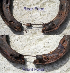 Corrosion of Parking Brake Shoes