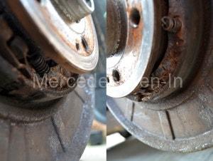 Vito Parking Brake Corrosion