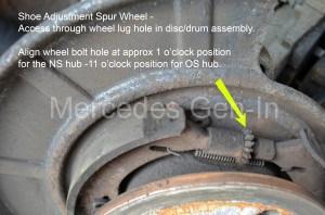 Vito W639 Parking Brake Shoe Adjuster