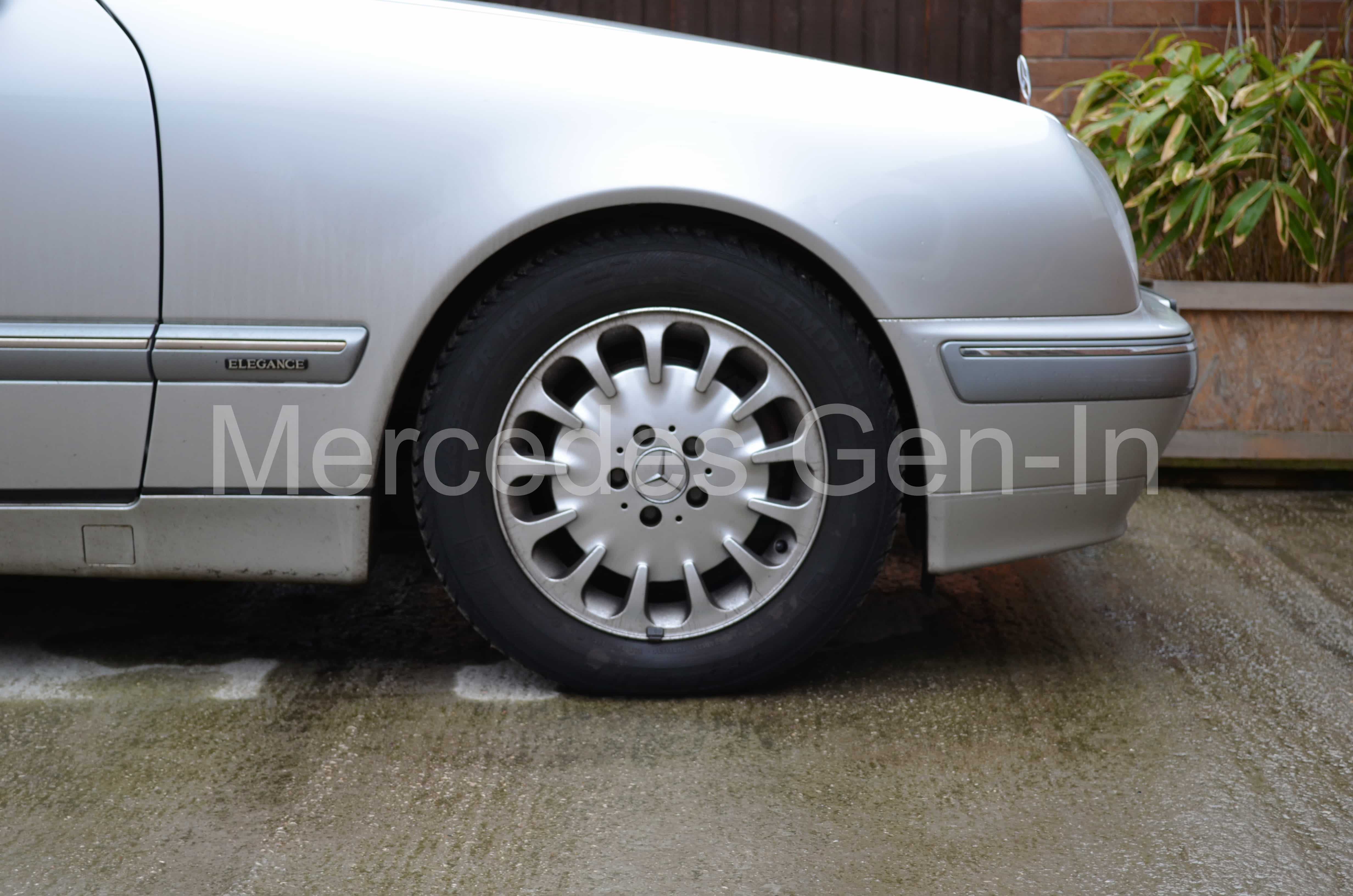 Mercedes E Class W210 Front Spring Perch Failure