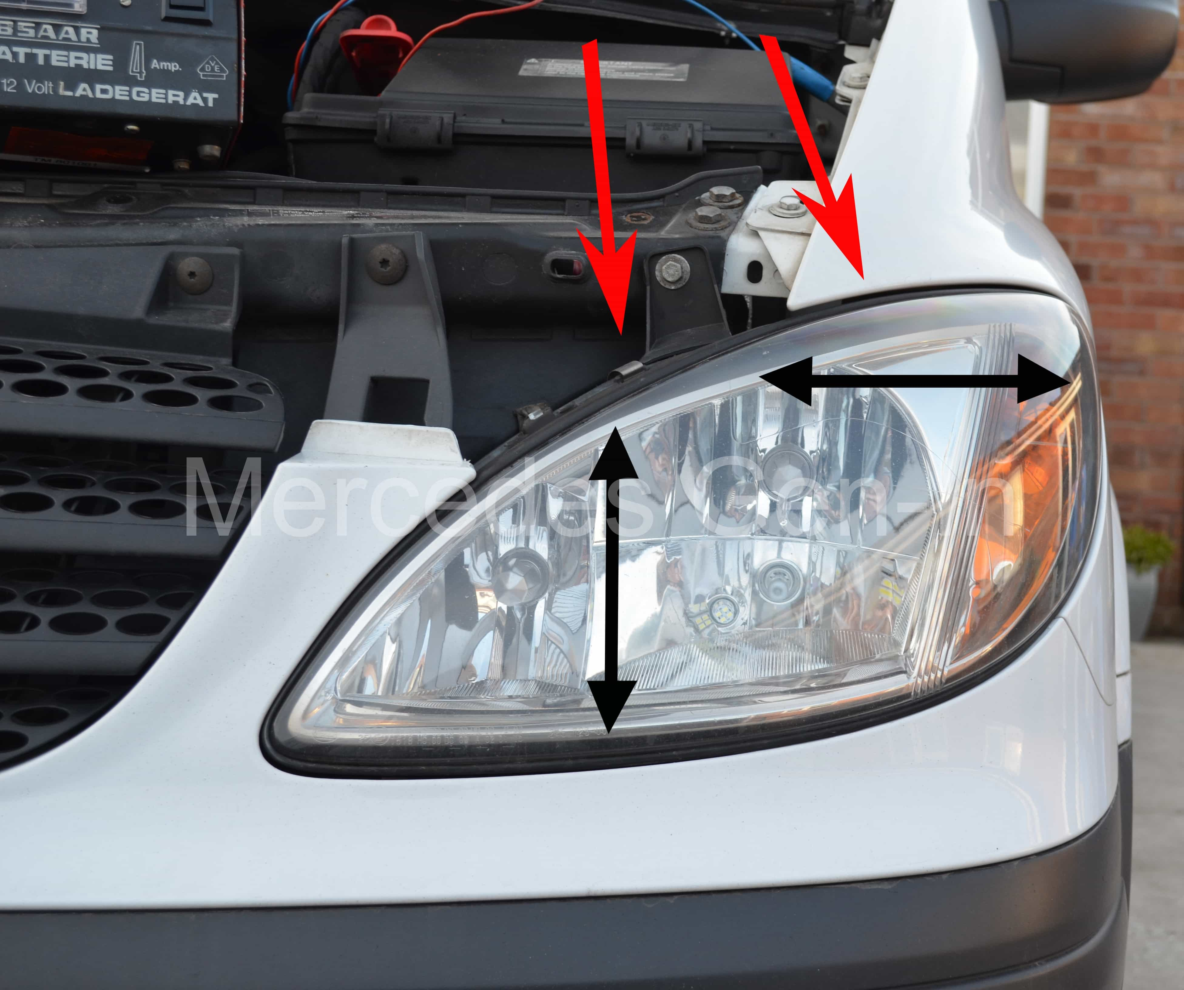 how to change headlight bulb 2006 sprinter
