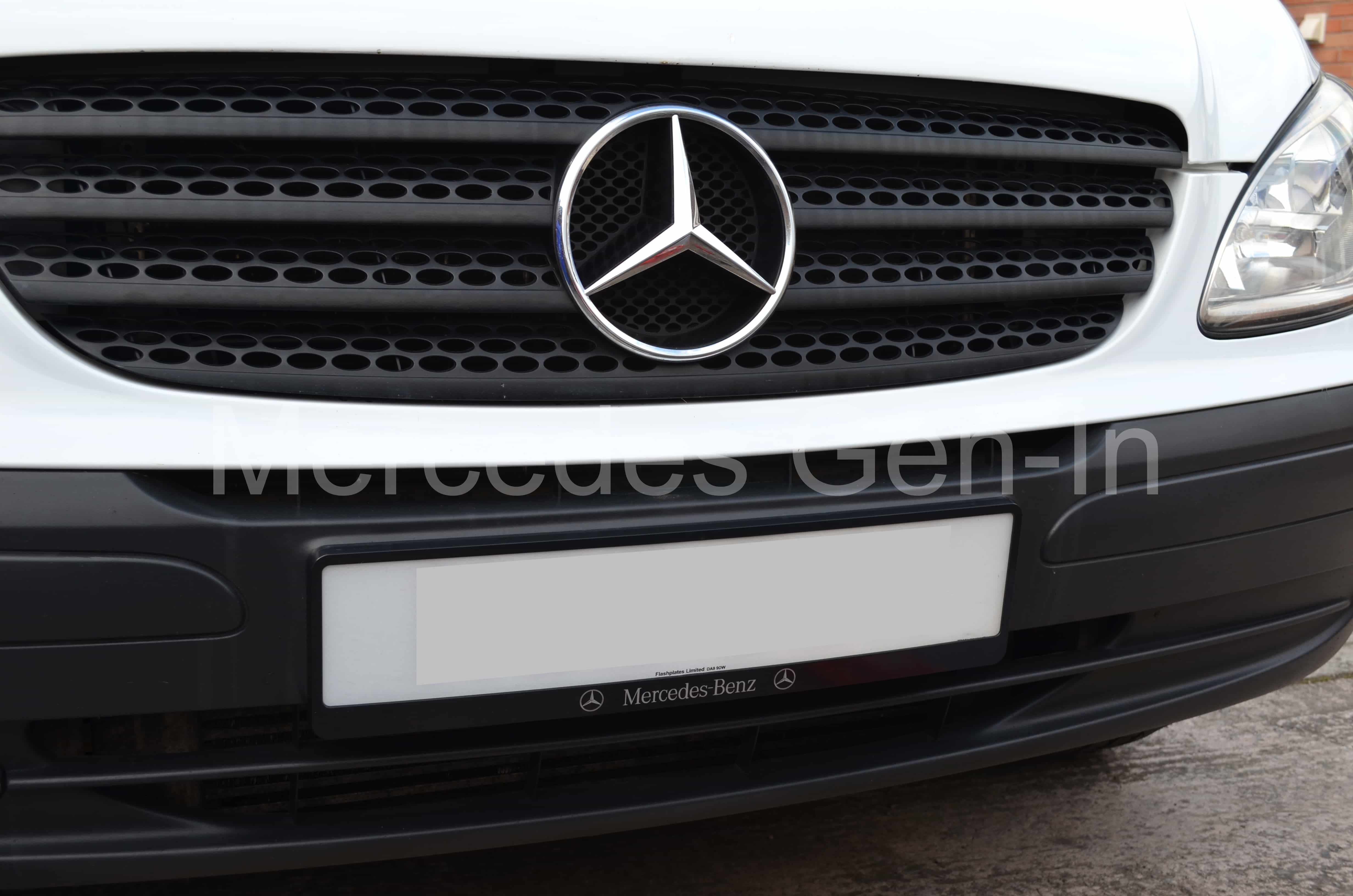 Mercedes Vito W639 Number Plate Frame & Mercedes Benz Registration Plate Frame - Fixing