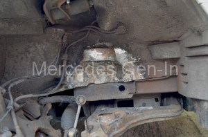Welding of Spring Turret Mercedes W210 E Class copy