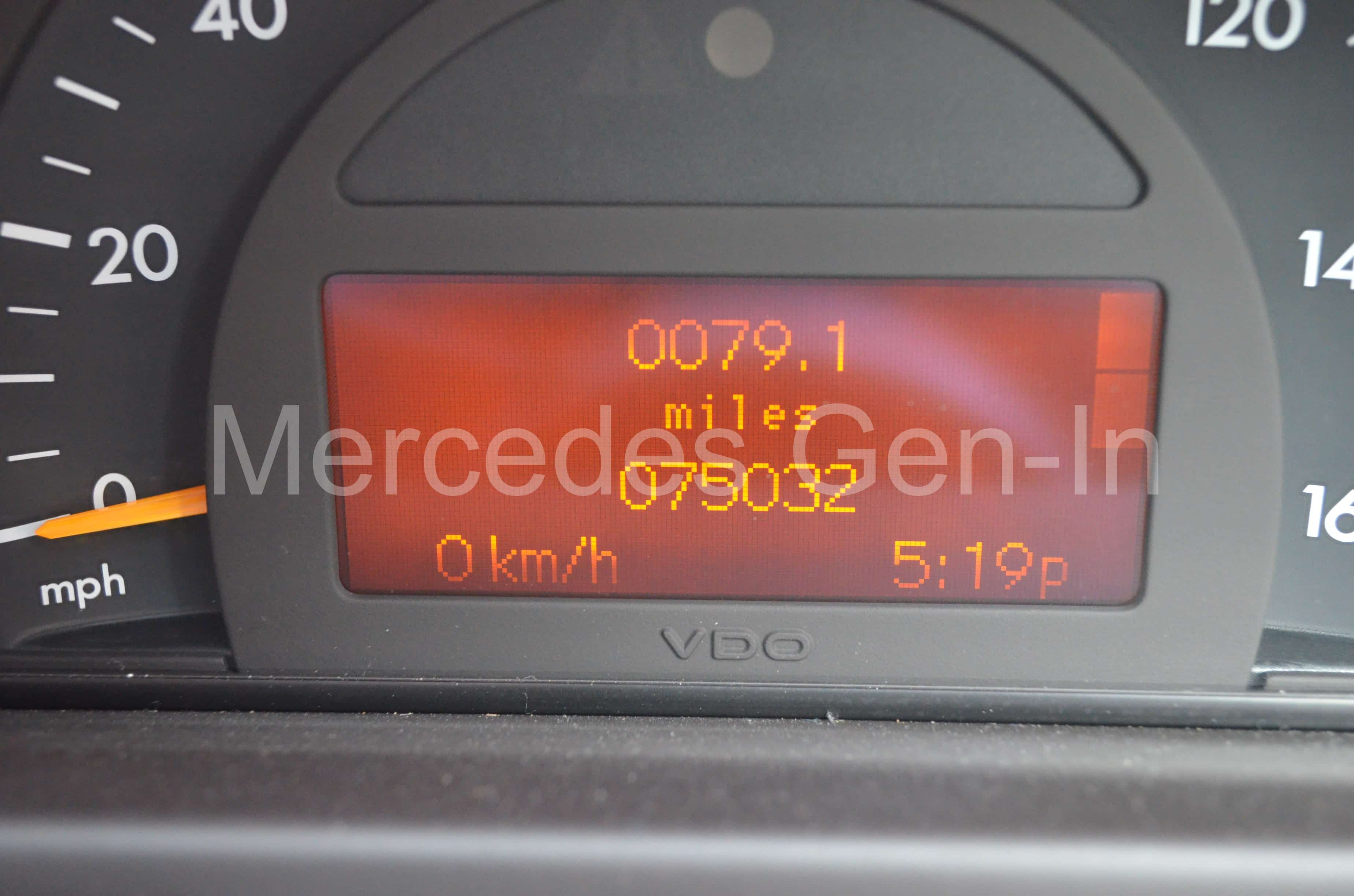 Mercedes C Class W203 - Dim Multi-Function Instrument Display (MFD