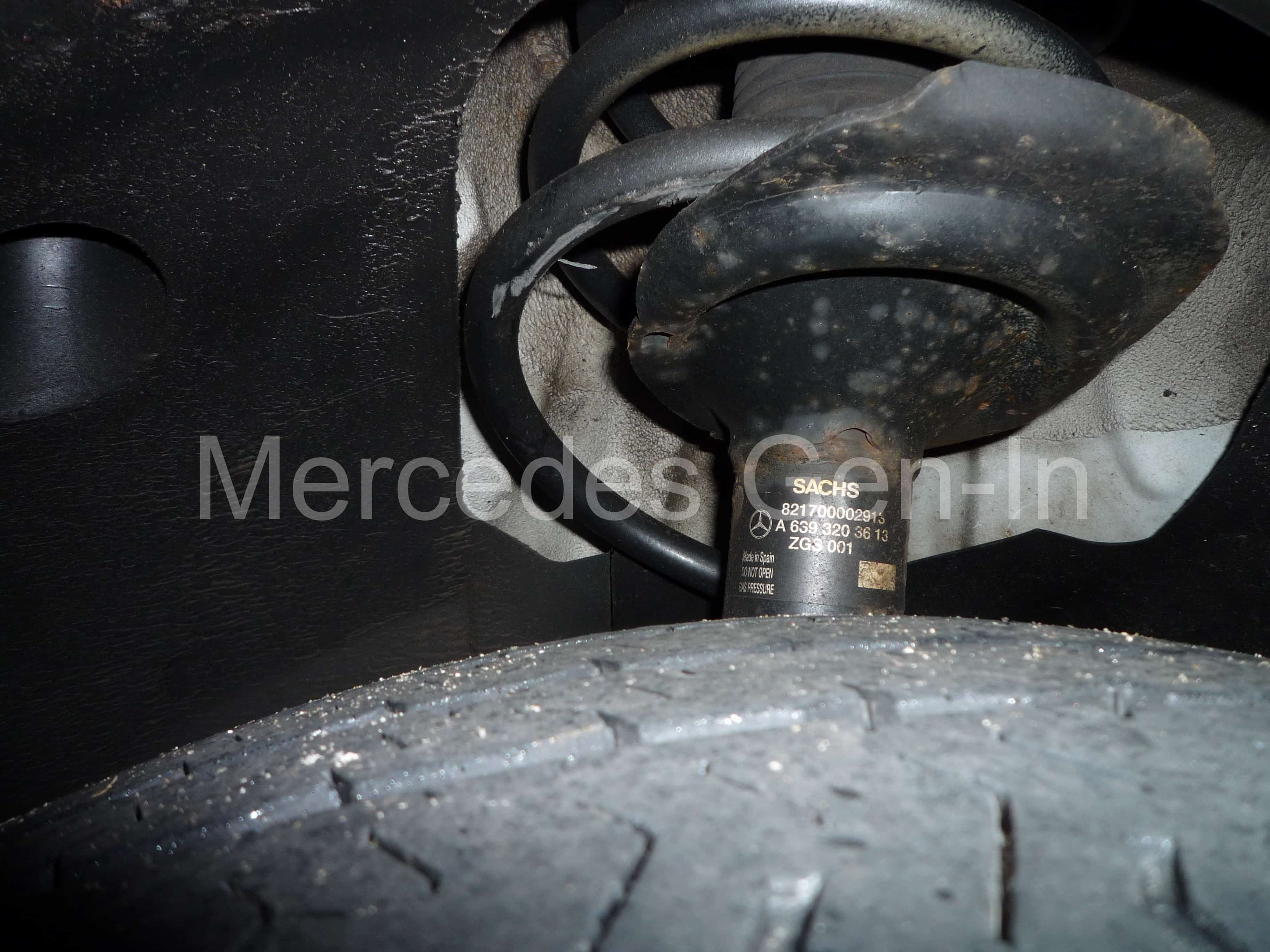Mercedes Vito Viano Anschler Front Shock Absorber Strut Twin-Tube Gas Pressure