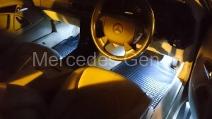 Mercedes SL interior lighting LED upgrade