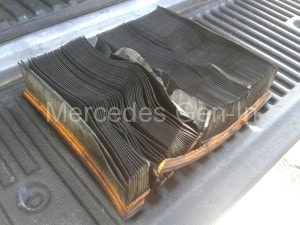Sprinter air filter clogged