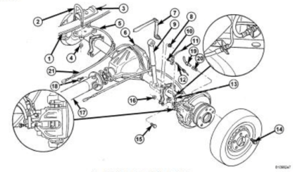 Sprinter rear axle exploded view