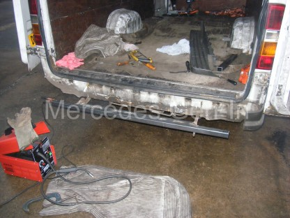 Mercedes Sprinter rear foot step repair 5