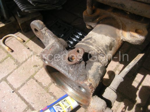 Mercedes rear axle replacement 8